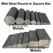 MILD STEEL Solid SQUARE or ROUND BAR - 9 Diameters & 10 Lengths to Choose From