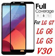 For LG G7 G6 G5 V30 Genuine Full 3D Tempered Glass 9H Screen Protector Cover