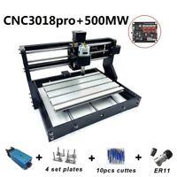 Pro 500MW 3018 CNC Router Laser Engraving Machine 24V PCB DIY Engraver Wood Tool