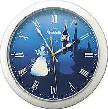 Japan Disney Princess Character Wall Clock Cinderella F/S