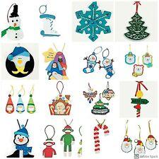 Christmas Ornament Craft Kit for Kids Santa Penguin Snowman Candy Cane Abcraft