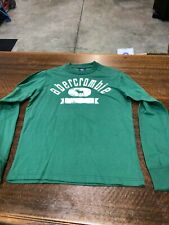 ABECROMBIE & FITCH - BRAND NEW GREEN LONG-SLEEVE T-SHIRT- SIZE ADULT EXTRA LARGE