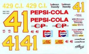 Powerslide #41 Pepsi 1972 Bobby Unser Nascar decal