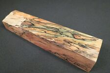 """STABILIZED SPALTED MAPLE 2 1/8"""" X 1 5/8"""" X 10 7/8""""  CUES CALLS SCALES GRIPS !!"""
