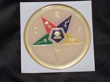 """Masonic 3"""" Colorful Gel Car Emblem Order Eastern Star OES Fraternity NEW!"""