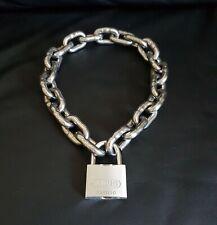 Halskette Kette + Schloss Halsband Slave Bondage PARUS leather gay Muscle SCHWER