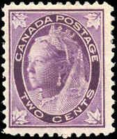 1897 Mint H Canada F+ Scott #68 2c Maple Leaf Issue Stamp