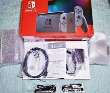 Nintendo Switch DOCK HDMI AC Adapter Joy Con Straps & Grip Box Manual ALL NEW