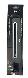 NEW Nike Expandable Running Lean Waistpack Belt Gray Reflective Mesh Hiking