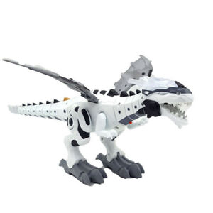 Electric Walking Dragon Toy LED Fire Breathing Water Spray Dinosaur Kids Gift CH