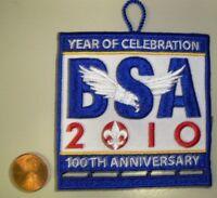 BSA BOY SCOUTS AMERICA 100TH ANNIV 2010 JAMBOREE OA FLAP POCKET PATCH SHORT LOOP