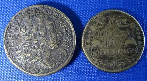 3 Pound 12D + 36 Shillings Coin Weights for Portugal 8 & 4 Escudos - Early C18th