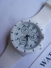 Swatch + Chrono Plastic + susw 402 twice again White + nuevo/new