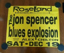 VINTAGE Jon Spencer Blues Explosion poster Alex Chilton - ROSELAND NYC 1998