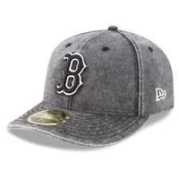 Boston Red Sox MLB New Era Low Profile Faded 59FIFTY Bro Team Baseball Cap Hat B