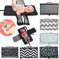 Baby Folding Diaper Travel Portable Changing Pad Waterproof Mat Bags Storage