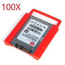 100X Hot 2.5 to 3.5 Adapter Bracket SSD HDD Notebook Mounting Tray Caddy Bay
