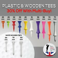 Golf Castle & Wooden Masters Tees. Fast and Free Postage.Great Prices And Value!
