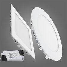 6/9/12/15/18/24W LED Panel Leuchte Deckenlampe Unterputz Wandleuchte m.Trafo NS