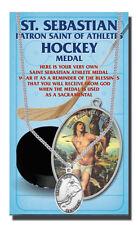 St.Sebastian Hockey Medal Necklace and a FREE Prayer Card