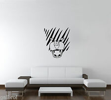 Striped Leopard Face Vinyl Room Decal