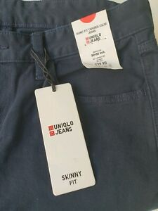 Uniqlo Men's Skinny Stretch Cotton Jeans Size 30x30(pre tailored)Navy Blue