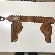 1940's Vintage Hubley Leather Gun Holster belt