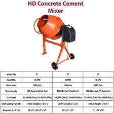 Hd Portable Electric Steel Stucco Concrete Cement Mixer 170L/210L/250L Drum Cap
