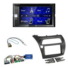 JVC KW-V250BT Autoradio + Honda Civic VIII 2-DIN Blende schwarz+Lenkrad Adapter