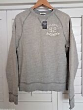 NWT New Men's ABERCROMBIE & FITCH Flagstaff Mountain Sweatshirt Gray L Large