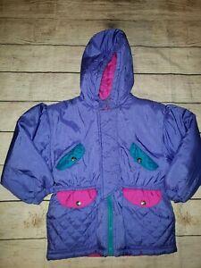 Vintage 90s Puffer Jacket Girls Medium