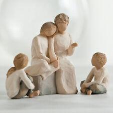 Willow Tree Grandmother & Three Grandchildren Figurine Gift Set #2 Family Group