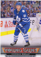 13-14 Upper Deck Morgan Rielly Young Guns Rookie Maple Leafs 2013