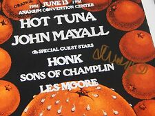 JOHN MAYALL Signed CONCERT POSTER 11x14 PHOTO Autographed BLUESBREAKERS Proof