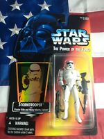 Star Wars The Power of the Force Stormtrooper Orange Card Kenner 1995 New Sealed