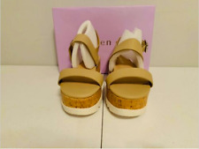 Madden Girl Sugarr Platform Sling back Sandals Nude Paris 9.5 NEW