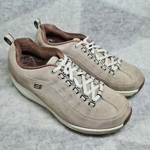 Skechers Shape Ups Size UK 4 Womens Fitness Trainers Light Brown/taupe