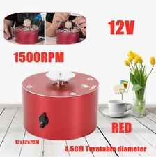 1500Rpm Electric Pottery Wheel Machine Ceramic Work Clay Art Craft Red 4.5Cm