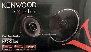 """NEW Kenwood KFC-X134 5.25"""" eXcelon Series 2-Way Coaxial Car Speakers 5-1/4"""" PAIR"""