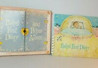 Vintage Baby Keepsake Book Album Journal 1960 First Diary Die Cut Comb Bound Box