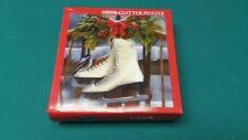 "1000 Piece Glitter Puzzle Christmas ""Winter Sports"" Victoria Wilson-Schultz NEW"