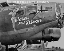 USAAF WW2 B-17 Bomber Mason and Dixon 8x10 Nose Art Photo 100th BG New Release!