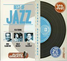 BEST OF JAZZ - 3 CD BOX SET - DUKE ELLINGTON * BILLIE HOLIDAY & CAB CALLOWAY