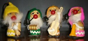 4 Vintage  Hillbilly's  Bobble heads  CHRISTMAS ORNAMENTS  Fast shipping