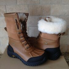 UGG Adirondack II Chestnut Otter Waterproof Leather Fur Snow Boots Size 7 Womens