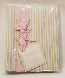 **Lot of 3** Baby Photo Books - Pink/Green/Yellow Stripes - Baby Girl