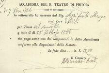 Accademia del R. Teatro di Pistoia 1865