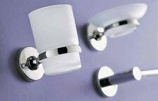 Accessori bagno in ottone cromato con 8 pezzi tra cui scopino porta asciugamani