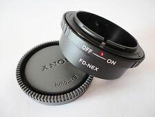 Canon FD Lens to Sony E NEX 3 NEX 5 NEX 7 NEX C3 5C 5N a7R a6000 adapter + CAP