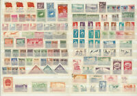 CHINA STAMPS LOT TIBET, EXERCISE, SURCH, OVPT, GATES HEAVENLY PEACE, 1930s-1950s